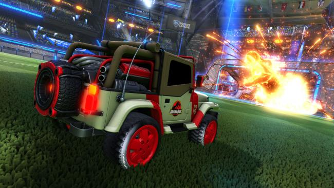 Rocket League: guardiamo in azione il DLC di Jurassic World