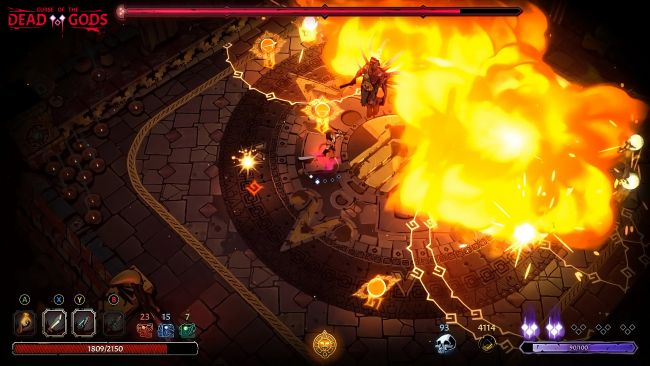 Curse of the Dead Gods in arrivo su Xbox One, PS4 e Nintendo Switch release on February 23