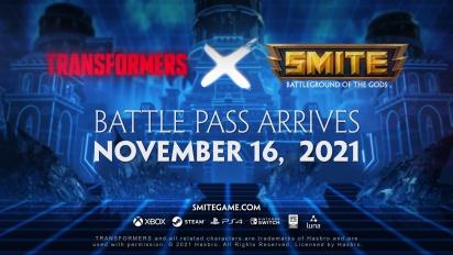 Smite X Transformers Battle Pass Trailer