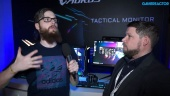 CES19: Gigabyte Aorus Monitor - Intervista a Andrew Ditchburn