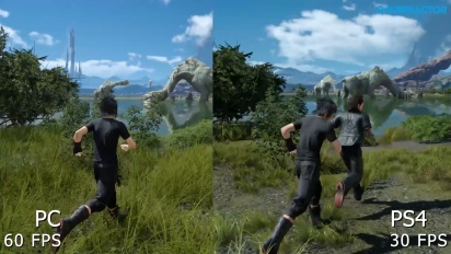 Final Fantasy XV - PC vs PS4 Graphics Comparison