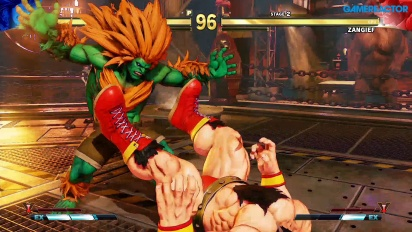 Street Fighter V: Arcade Edition - Blanka vs Zangief SFII Path Gameplay