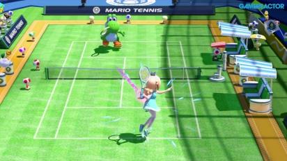 Mario Tennis: Ultra Smash - Gameplay Megasfide - Rosalina vs Yoshi