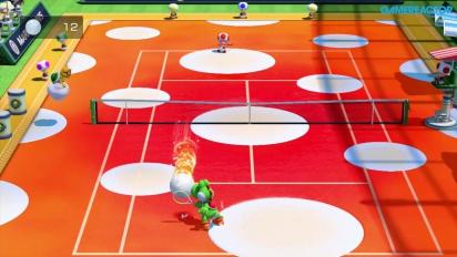 Mario Tennis: Ultra Smash - Gameplay Megapalleggi - Yoshi vs Toad