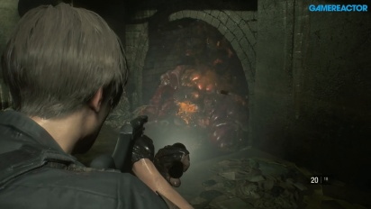 Resident Evil 2 - Leon S. Kennedy Sewers Gameplay
