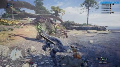 Monster Hunter World - Great Jagras - Gameplay Gamescom