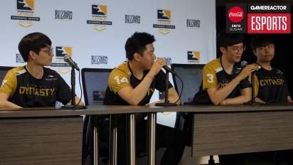 Overwatch League – Conferenza stampa dei Seoul Dynasty (Giorno 1)