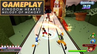 Kingdom Hearts: Melody of Memory - Gameplay