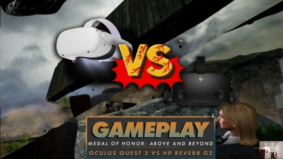 Medal of Honor: Above and Beyond - HP Reverb G2 vs Oculus Quest 2 Visuals Comparison