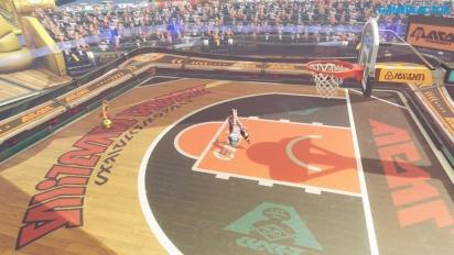 Arms - Gameplay della modalità Hoops