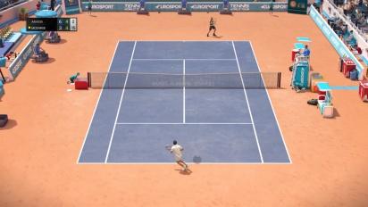 Tennis World Tour - John McEnroe vs Andre Agassi Gameplay