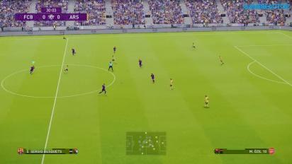 eFootball PES 2020 - FC Barcelona vs. Arsenal Gameplay