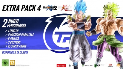 Dragon Ball Xenoverse 2 - Extra Pack 4 Content and Release date (Italiano)