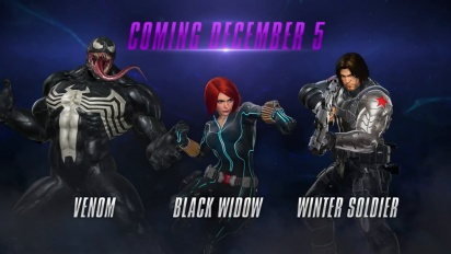 Marvel vs. Capcom: Infinite - Winter Soldier, Black Widow and Venom Gameplay