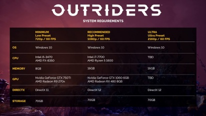 Outriders - PC Spotlight & Details