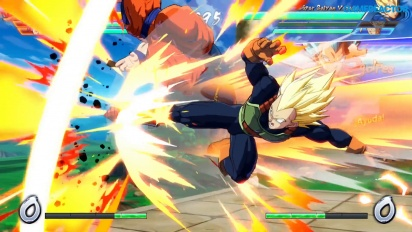 Dragon Ball FighterZ - 2P Versus gameplay on Nintendo Switch