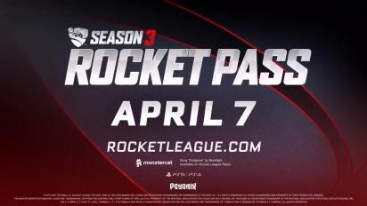 Rocket League - Season 3 Rocket Pass Trailer | PS5, PS4