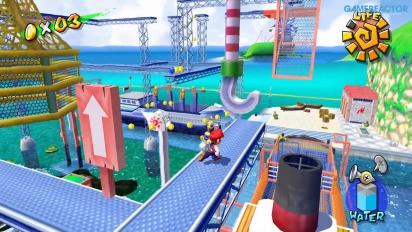 Super Mario Sunshine on Nintendo Switch: Ricco Harbor Gameplay