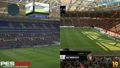 FIFA 19 vs PES 2019 - Grafica a confronto in 4K